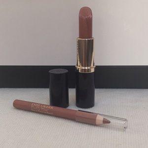 ❤️Set of Estée Lauder Lipstick &Lip Pencil ❤️